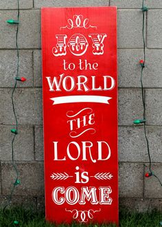 Joy to the World Subway Art Sign - Inexpensive and Beautiful!! Perfect for Christmas! { lilluna.com } #lowescreator