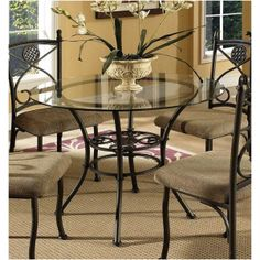 Brookfield Glass Dining Table by Steve Silver BK420GT-B