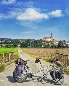 #TheDragonBike striking a pose in #Bavaria.  #EnjoyGermanNature #GermanyChallenge #TandemChallenge