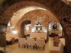 The basement of a cool coffee shop, Krakow, Poland
