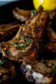 Easy lemon garlic lamb chops are quick to cook and perfectly juicy. Great for weeknights when you want a delicious dinner on the table fast. Lamb Chop Recipes, Meat Recipes, Cooking Recipes, Best Lamb Recipes, Cooking Kale, Skillet Recipes, Grilled Lamb Chops, Bbq Lamb Chops, Baked Lamb Chops