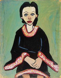 Seated Woman in Black Dress by William H. Johnson / American Art
