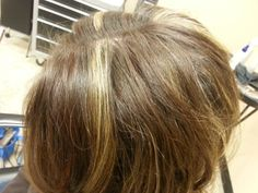 Blonde & copper highlights. Aveda color.