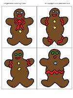 Gingerbread Matching printables