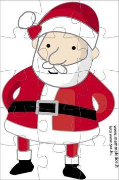 Lavoretti di Natale: il Puzzle di Babbo Natale
