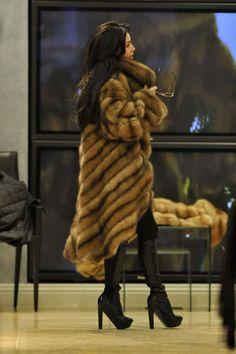 Kim wearing a Dead animal!