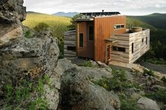 Solar shipping container house, Colorado. Off-grid