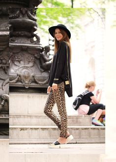 nettenestea new york times square leopard bukser outfit blogg shopping