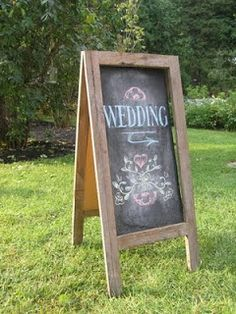 chalkboard wedding direction sign - Google Search