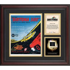 Fanatics Authentic 1962 Daytona 500 Program 3 Photograph Core Collage with Sprint Tower Banner-Limited Edition of 500 - $89.99