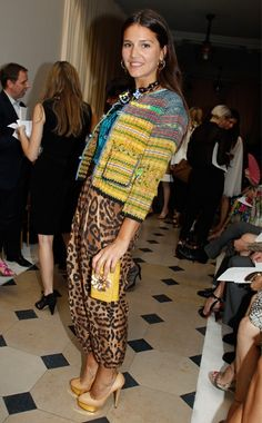 Margareta Missoni: Leopard and colors! She is the grand-daughter of the founders of Missoni, she has brought new vision but keeping tradition in a close second to the house. It is lovely
