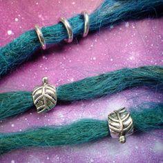 Leaf dread bead set by lotusfairy on Etsy