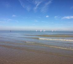 Nordsee, Holland, Cadzand, Segelschiffe