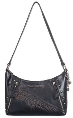 10fc6acb4c Harley-Davidson® Womens Punk Shoulder Bag Purse Black Leather