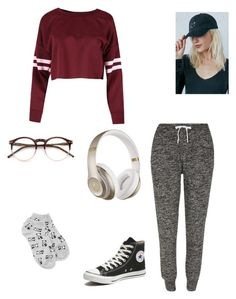 """""""Lazy Day💤"""" by emmie-thacker ❤ liked on Polyvore featuring River Island, Forever 21, LA: Hearts, Converse, Beats by Dr. Dre and Wildfox"""
