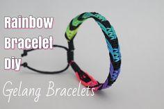 video titorial how to make this easy rainbiw bracelet Diy Rainbow Friendship Bracelets, Adjustable Bracelet, Rainbow Colors, Easy, Rainbow Colours