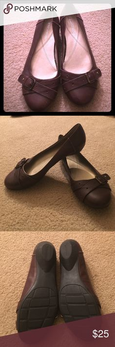 Brown Naturalizer Slip On Shoes Great condition. smoke free home. Has buckle treatment. Naturalizer Shoes Flats & Loafers