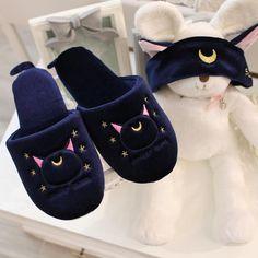 White/Navy Kawaii Sailor Moon Luna Slippers Source by viavampyre clothing Girly Things, Cool Things To Buy, Sailor Moon Luna, Luna Moon, Sailor Moon Collectibles, Cute Slippers, Kawaii Room, Kawaii Accessories, Kawaii Clothes