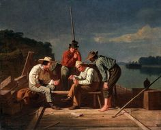 In a Quandry, or Mississippi Raftsmen at Cards