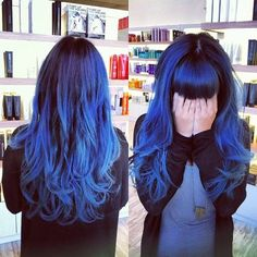ombre blue hair color...I don't normally go for the whole color thing, but this is rather intriguing.