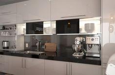 OP15-L24: Fashionable Lacquer Kitchen Cabinet