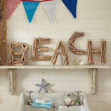Driftwood Large Letters - BEACH