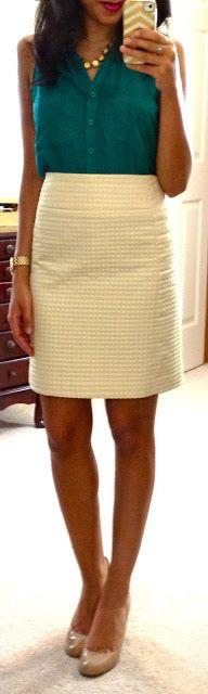blouse + A-Line skirt