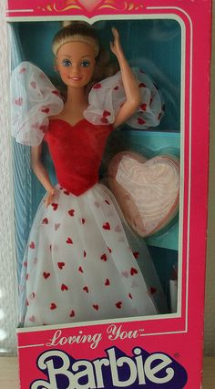 I was OBSESSED with this particular barbie. loving you barbie #childhood #barbie #80s
