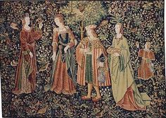 The Promenade - medieval tapestry.