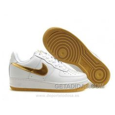 the best attitude daf18 3ffe6 Nike Air Force 1 Low Hombre Blanco Oro (Nike Force One Low) Authentic,