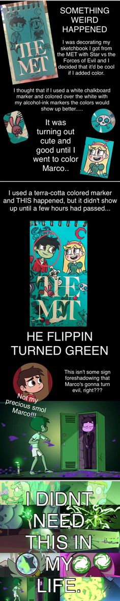 WHAT THE... HE TURNED GREEN WHAT  Star vs the Forces of Evil Credit @livieblue