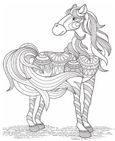 A Carousel Horse Coloring Page
