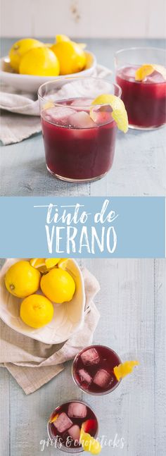 Recipe and video of how to make tinto de verano, a Spanish red wine cocktail (easier than sangria!) (and pics from our spain trip) - Grits & Chopsticks