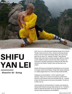 Mind|body health through Shaolin with Shifu Yan Lei — Balance & Essence Read the full interview on the site.