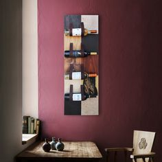 J Reis presents you Leaves wine holder! Put your best wines on the wall and make it part of your decor, with leather and wood veneers! Decor, Furniture, Interior, Handmade Furniture, Home Decor, Wood Veneer, Wine Holder, Upholstery, Interior Design