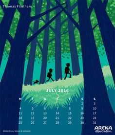Arena Calendar- July, Thomas Flintham 2016 Calendar, Illustrators, Graphic Design, Movie Posters, Character, Image, Art, Art Background, Film Poster
