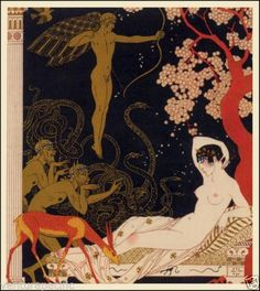 Orphine  :  George Barbier  :  circa 1922  [Art Deco] in Home & Garden, Home Décor, Posters & Prints | eBay