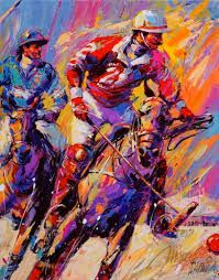Image result for polo sport in art painting