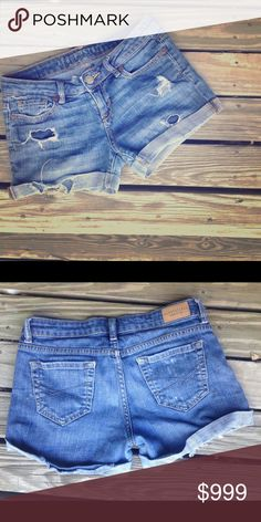 Aeropostale Distressed Jean Shorts Well loved Aeropostale jeans from the days where I could fit into 00. Undying fashion left inside these little blues. Aeropostale Shorts Jean Shorts