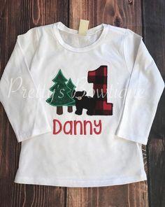Lumberjack Bear T-shirt Boys Bear birthday bodysuit/shirt