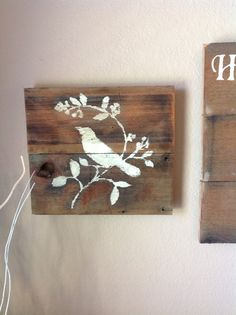 Reclaimed wood wall decor by DelHutson on Etsy, $25.00