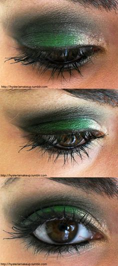 slytherin eyesss...could only be pulled off with a really sexy outfit on a hot night.