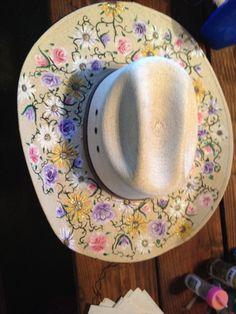 Custom painted cowboy hat