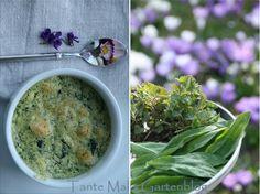 Tante Malis Gartenblog: Gründonnerstag - ein Bärlauch-Brennnessel-Soufflé