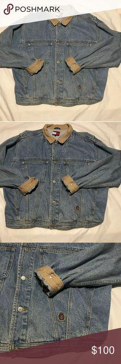 53c6d1e25 Vtg 90s Sz XL Tommy Hilfiger Mens Denim Jacket Vtg 90s Sz XL Tommy Hilfiger  Mens