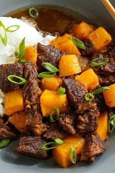 The beef stew here will be unfamiliar to most cooks, though it has much in common with the classic American dish. It is Japanese in origin and loaded with the warmth of soy, ginger, sweetness (best provided by mirin, the sweet Japanese cooking wine, but sugar or honey will do, too), winter squash and the peel and juice of a lemon. These simple and delicious counterpoints make a great stew. (Photo: Craig Lee for NYT)