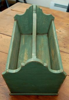 cute green caddy-- or knife box as it is called