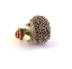 Hedgehog brooch. $38.00, via Etsy.