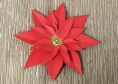 There's no denying that poinsettias are the quintessential holiday flower. While there's nothing to replace the aesthetic of a fresh bouquet of poinsettias in. Paper Flowers Roses, Paper Flower Decor, Flower Crafts, Flower Decorations, Library Decorations, Painted Flowers, Diy Christmas Paper Decorations, Easy Diy Christmas Gifts, Christmas Crafts