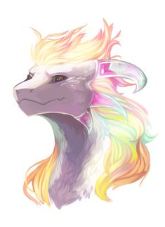 """Draw Creatures omg fabulous rainbow dragon >>> uhhh I think this is a dragon version of """"Hyperdeath"""" Asriel from Undertale Mythical Creatures Art, Mythological Creatures, Magical Creatures, Creature Concept Art, Creature Design, Cute Animal Drawings, Cute Drawings, Wolf Drawings, Drawing Sketches"""